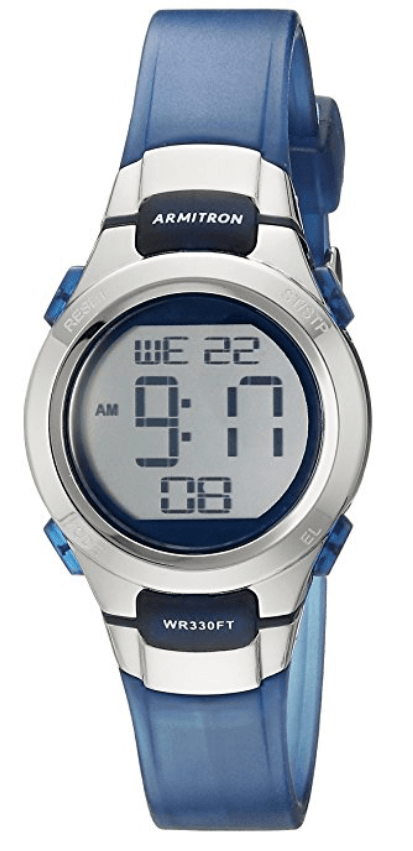 This Sleek Sporty Armitron Watch Is Water Resistant Too Armitron Blue Watches Sports Women