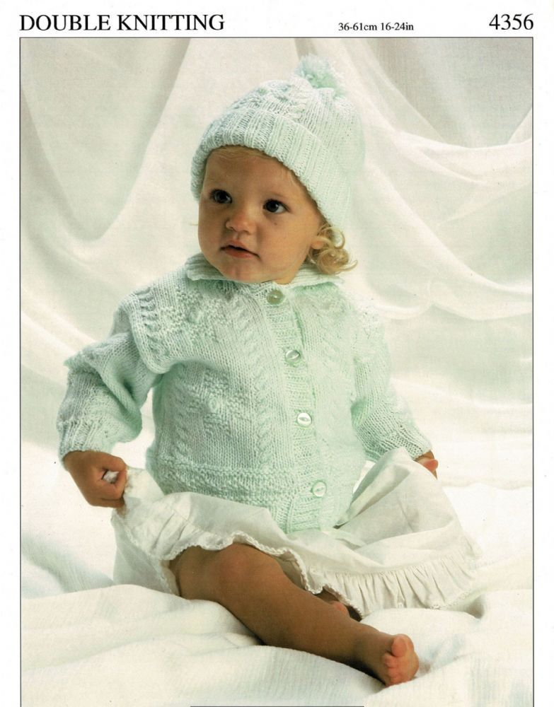 7aac36e0c54b1 PDF PDF Babies Toddlers Cable Pattern Jacket and Beret Hat Sizes 14 to 24  inch chest 36 to 61 cm Knitted in double knitting - 8 Ply