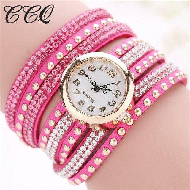 432aa300878 CCQ 2017 Fashion Luxury Women Bracelet Watch Ladies Casual Quartz  Wristwatch Relogio Feminino 1290