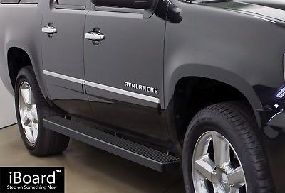 5 Black Iboard Running Boards 02 13 Chevy Avalanche 00 16 Suburban Gmc Yukon Xl Gmc Yukon Xl Chevy Avalanche Gmc Yukon