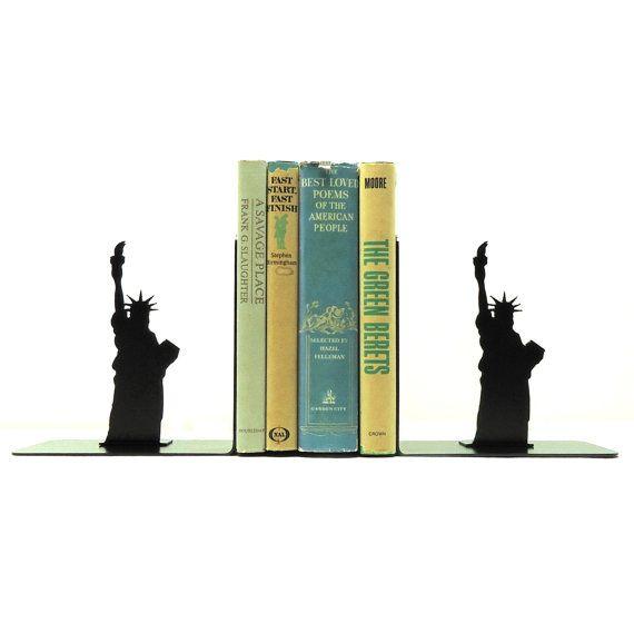 Statua di metallo arte Liberty Bookends - USA spedizione gratuita