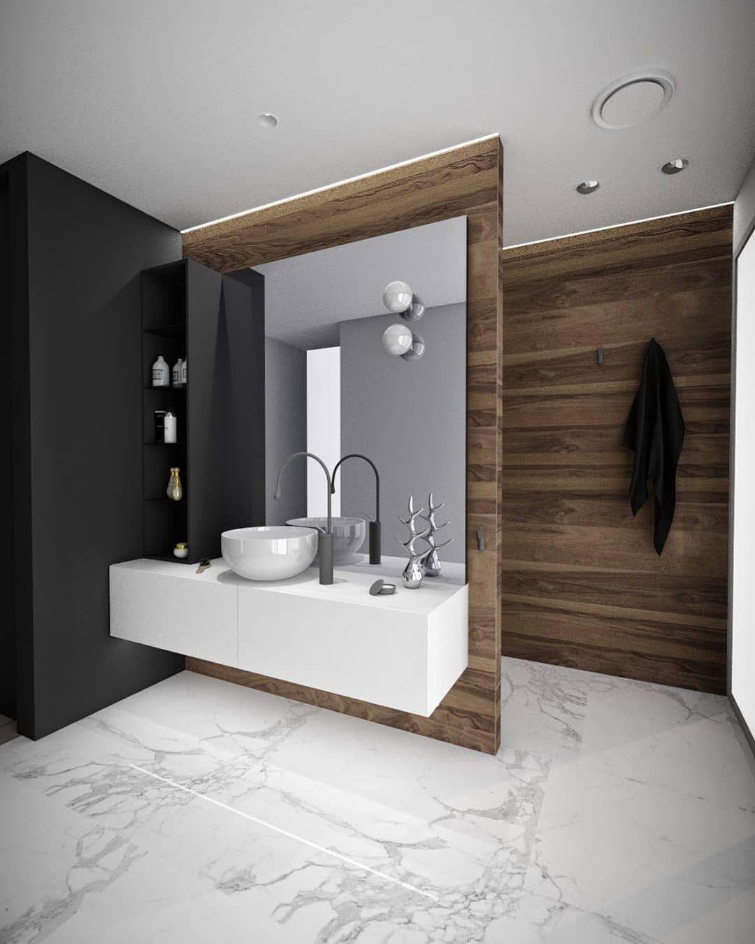 Badezimmer dekor mit fliesen norfloor fliser on instagram ucdenne kombinasjonen av materialer er