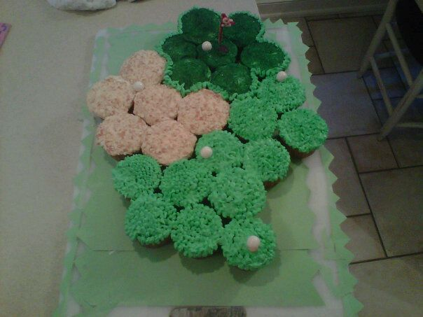 golf course cupcakes for my dad