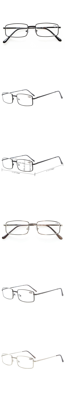 f47fa362f8c3 R15022 Eyekepper Rectangular Spring Temple Medium Metal Reading Glasses+0.5  0.75 1.0
