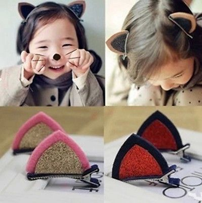 Cute Children Headwear Animals Hairpins Flower Cartoon BB Hair Clips Headdress