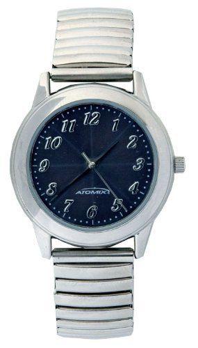 Atomix Silver Stretch Band Ladies Solar Watch Atomix 34 99 Solar Powered Stainless Steel Stretch Band Watches Wrist Watch Rolex Watches