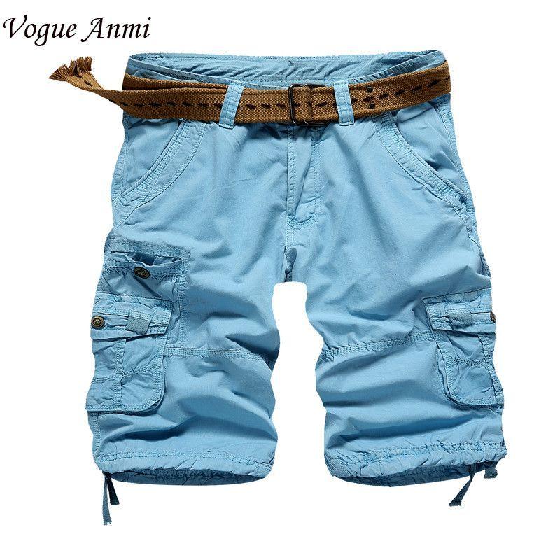 Vogue Anmi.cargo shorts mens casual shorts cotton cargo shorts men ...