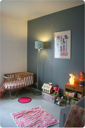 Chambre des filles #2 Blue walls, Kids rooms and Room