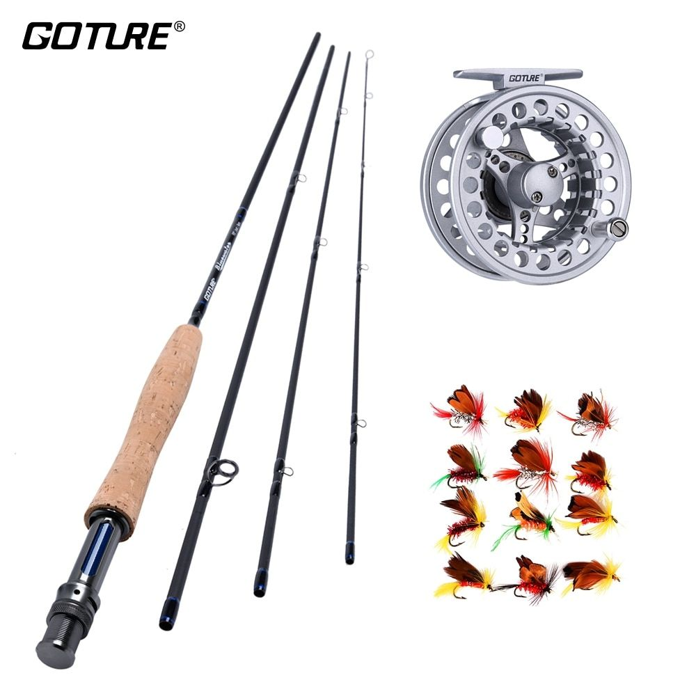Goture Fly Fishing Set 5 6 7 8 Acl Fly Reel Fly Rod Kit 5wt 6wt