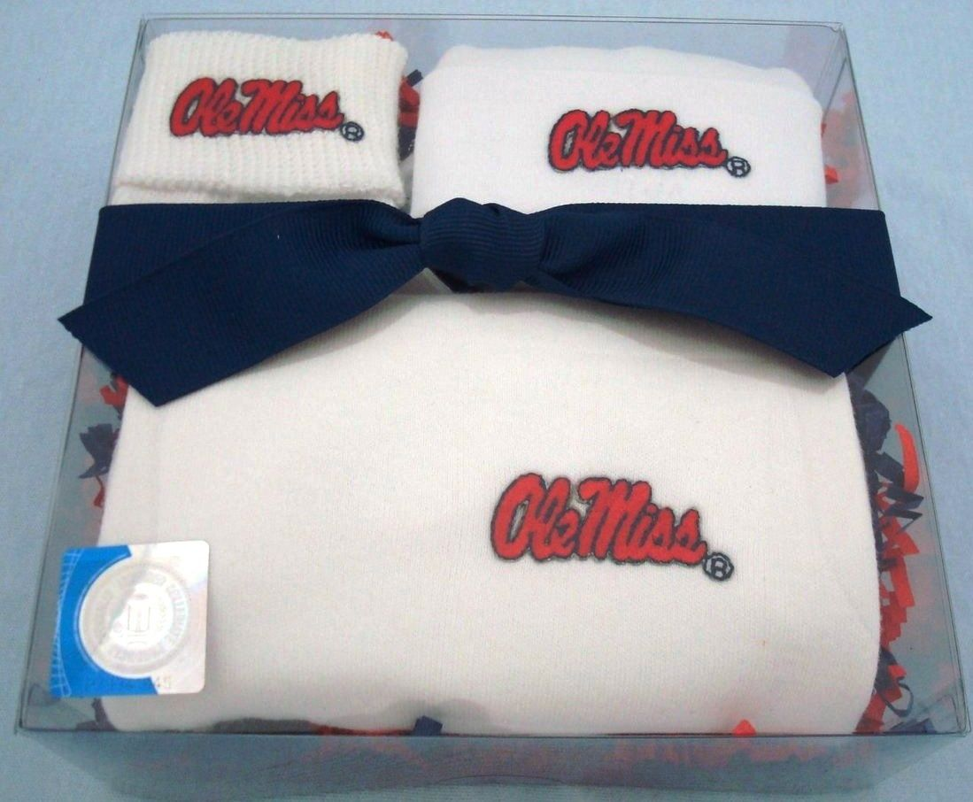 Celebrate a new addition to the Mississippi Ole Miss Rebels family with our head to toe Homecoming gift set by Future Tailgater, $29.99