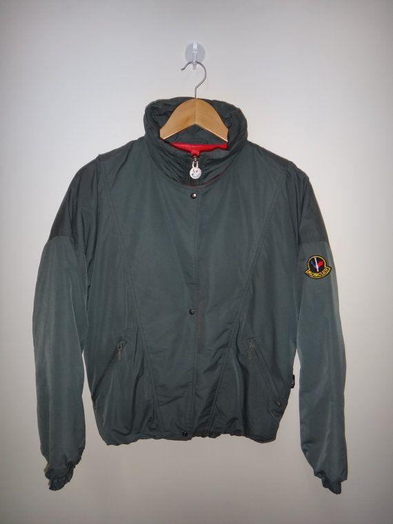 456e7ddf8b5a Vintage MONCLER Jacket Ski Wear Bomber Winter by TwistedFabrics ...