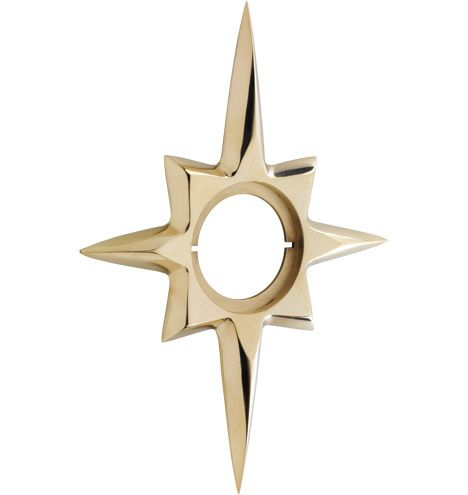 Wide Star Exterior Escutcheon Mid