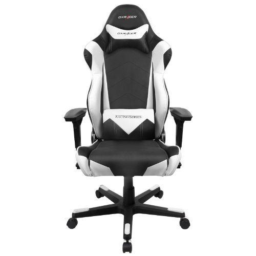 amazon: dx racer rf0/nw racing bucket seat office chair gaming
