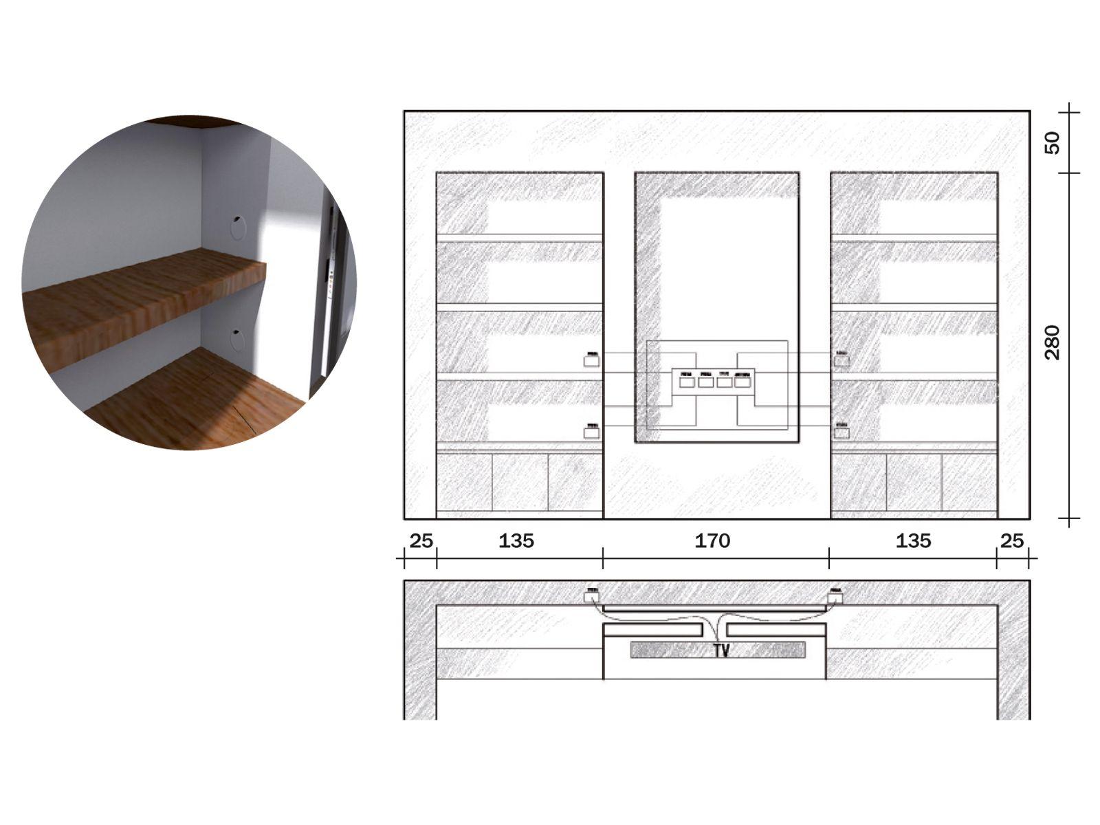La parete libreria in cartongesso cose di casa for Ambiente soggiorno moderno