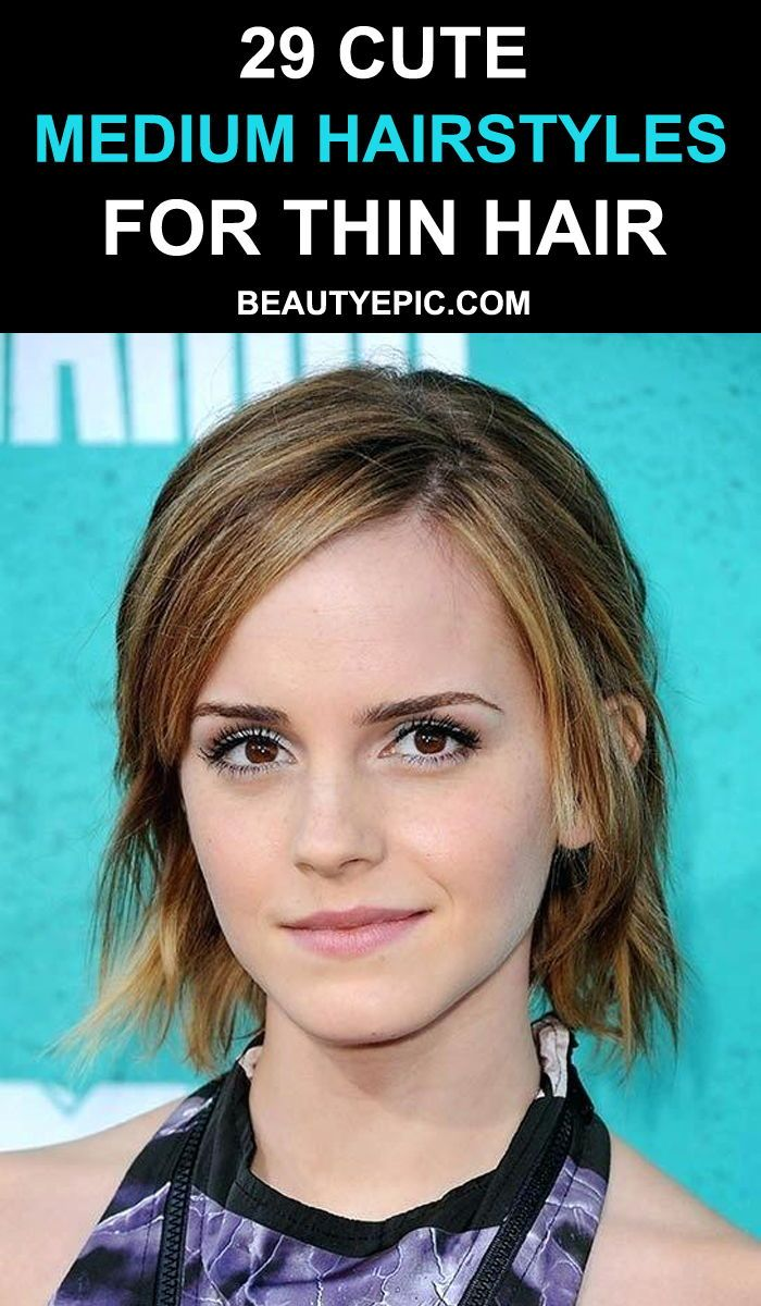 cute medium length hairstyles for thin hair in hair styles