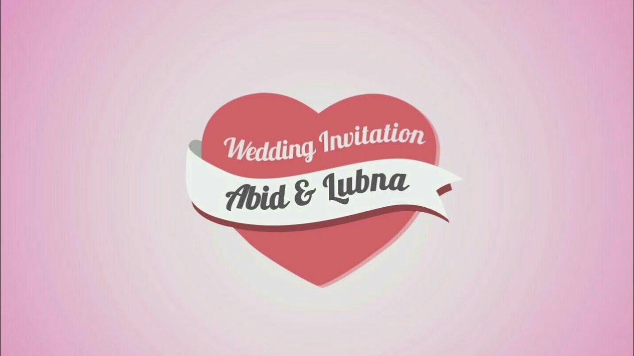 WEDDING INVITATION (SAINUL - INDIA) | 卡片动画模板❤ | Pinterest | India