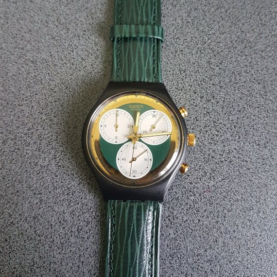 1991 Swatch CHRONOGRAPH Watch SCB-107 ROLLERBAL, Swatch Chronograph with gold and green colors    Tags : swatch watches women, vintage swatch watches, 80's swatch watches, swatch watches silver, swatch watches 2016, mens swatch watches, swatch watches irony, swatch watches chrono, swatch watches automatic, black swatch watches, swatch watches scuba, swatch watches classic, swatch watches for men, swatch watches retro, swatch watches orange,