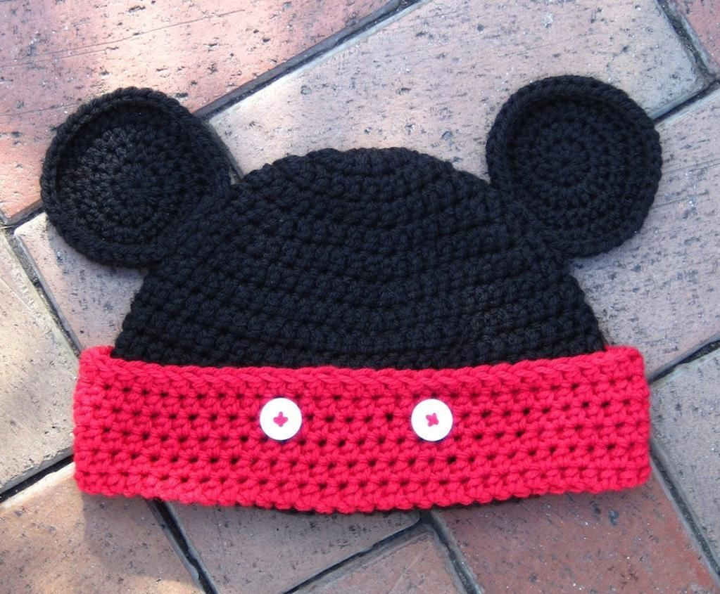 mickey mouse knitting pattern | Mickey Mouse Ears Hat - baby to ...
