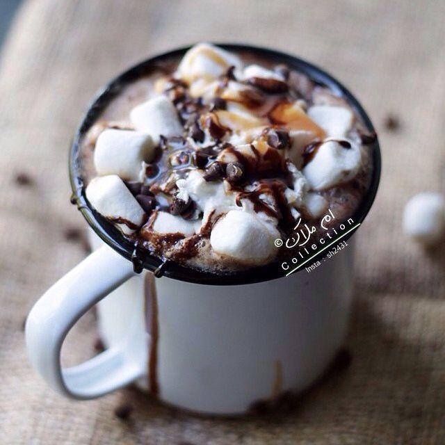 ضغطتين على الصورة تسعدني تفضلوا طريقة الموكا الحارة حبايبي للي طلبها تستاهلون حبي طر Spicy Hot Chocolate Coffee Recipes Hot Chocolate Recipes