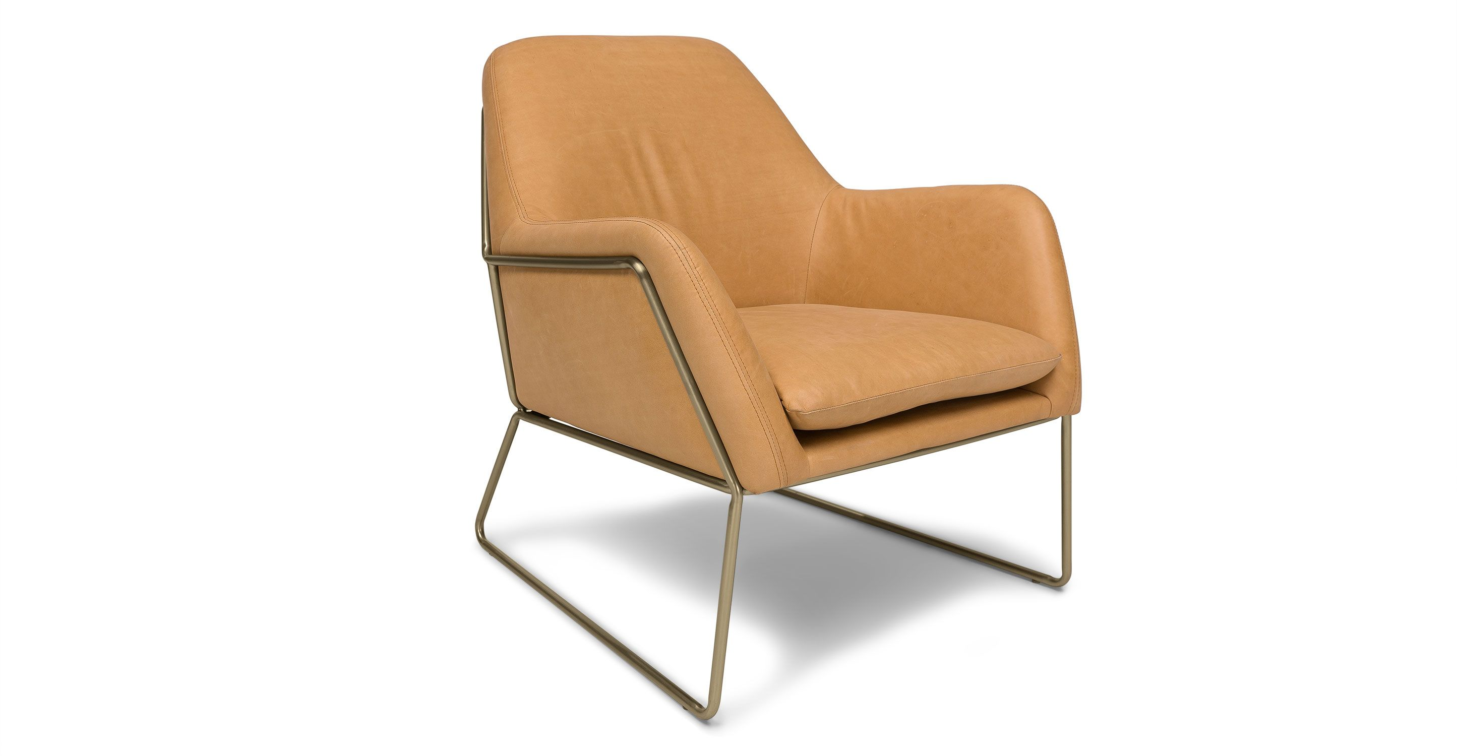 Tan Leather Accent Armchair | Article Forma Contemporary Furniture