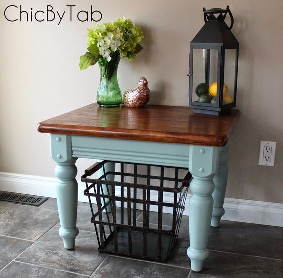 French Linen Chalk Paint Coffee Table: Duck Egg Annie Sloan Chalk Paint....Coffee Table Make-Over