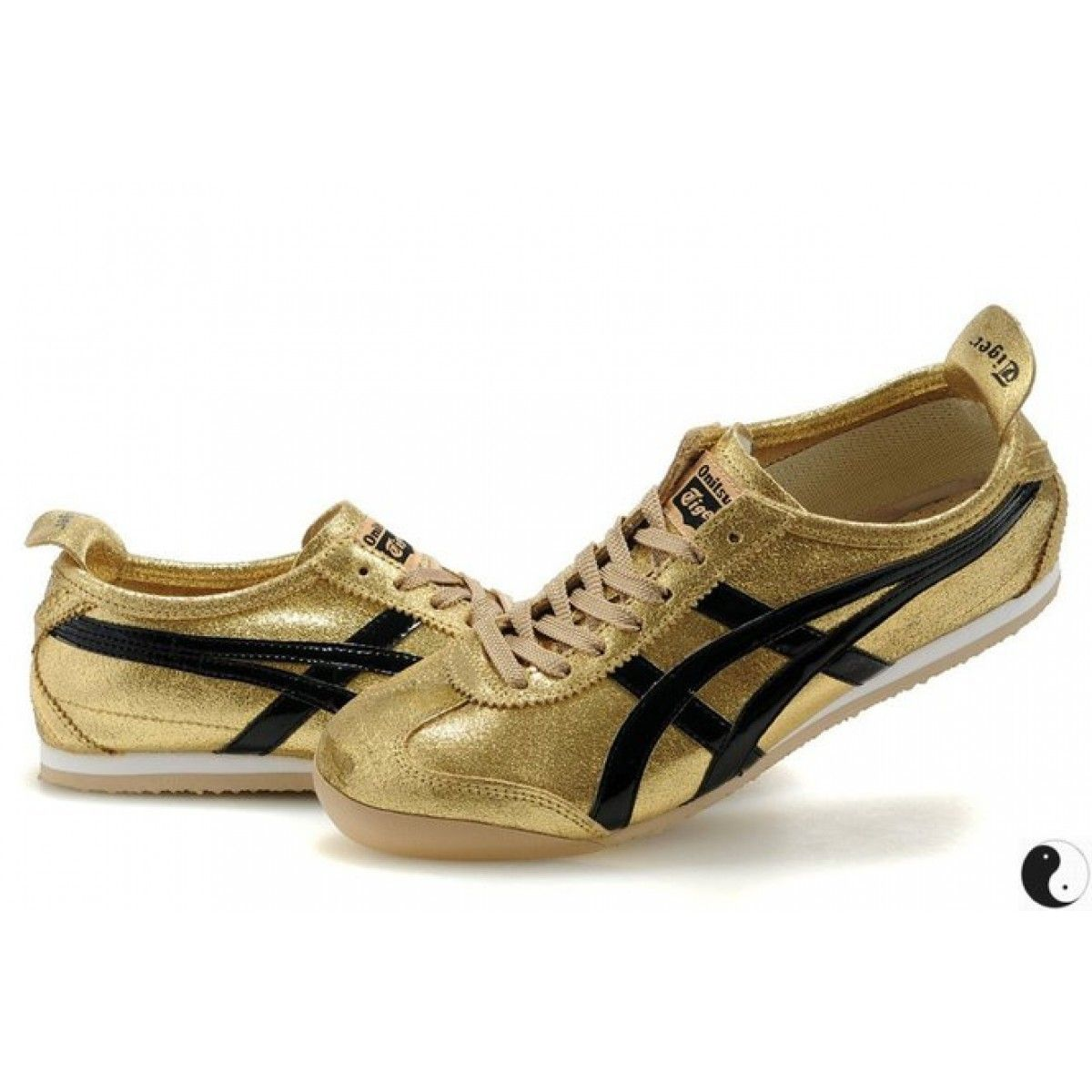 detailed look 22d07 6f4cb Asics Onitsuka Tiger Mexico 66 Mens Shoes Gold Black