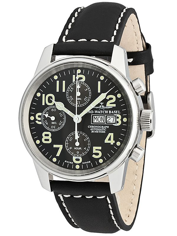 Zeno Watch Basel Classic Pilot Automatik Chronograph Day ...