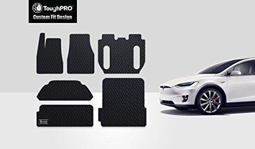 ToughPRO Tesla Model X Floor Mats & Trunk Mats Set - All Weather - Heavy Duty- Black Rubber- 6 Seater -(2016)