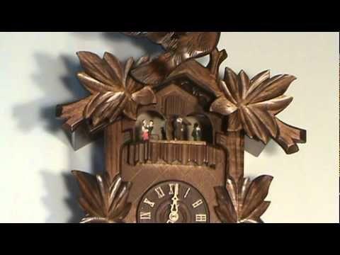 River City Clocks Musical Cuckoo Clocks, Leaf & Bird #MD841-16
