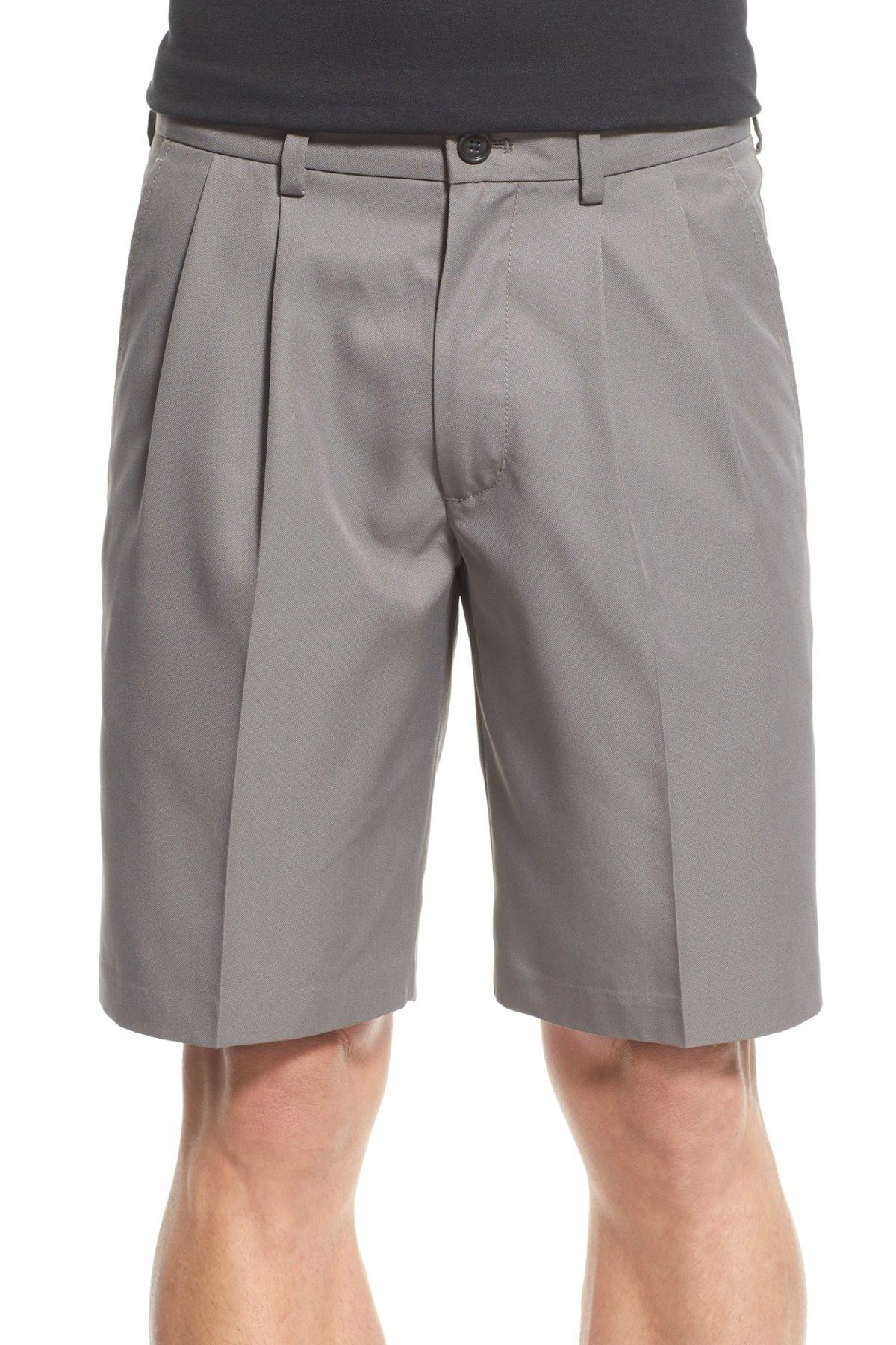 'Classic' Pleated Performance Shorts