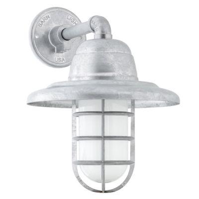 USA Hi-Lite Mfg Lighting Co VaporProof Ceiling Light Fixture Glass /& Cast Guard