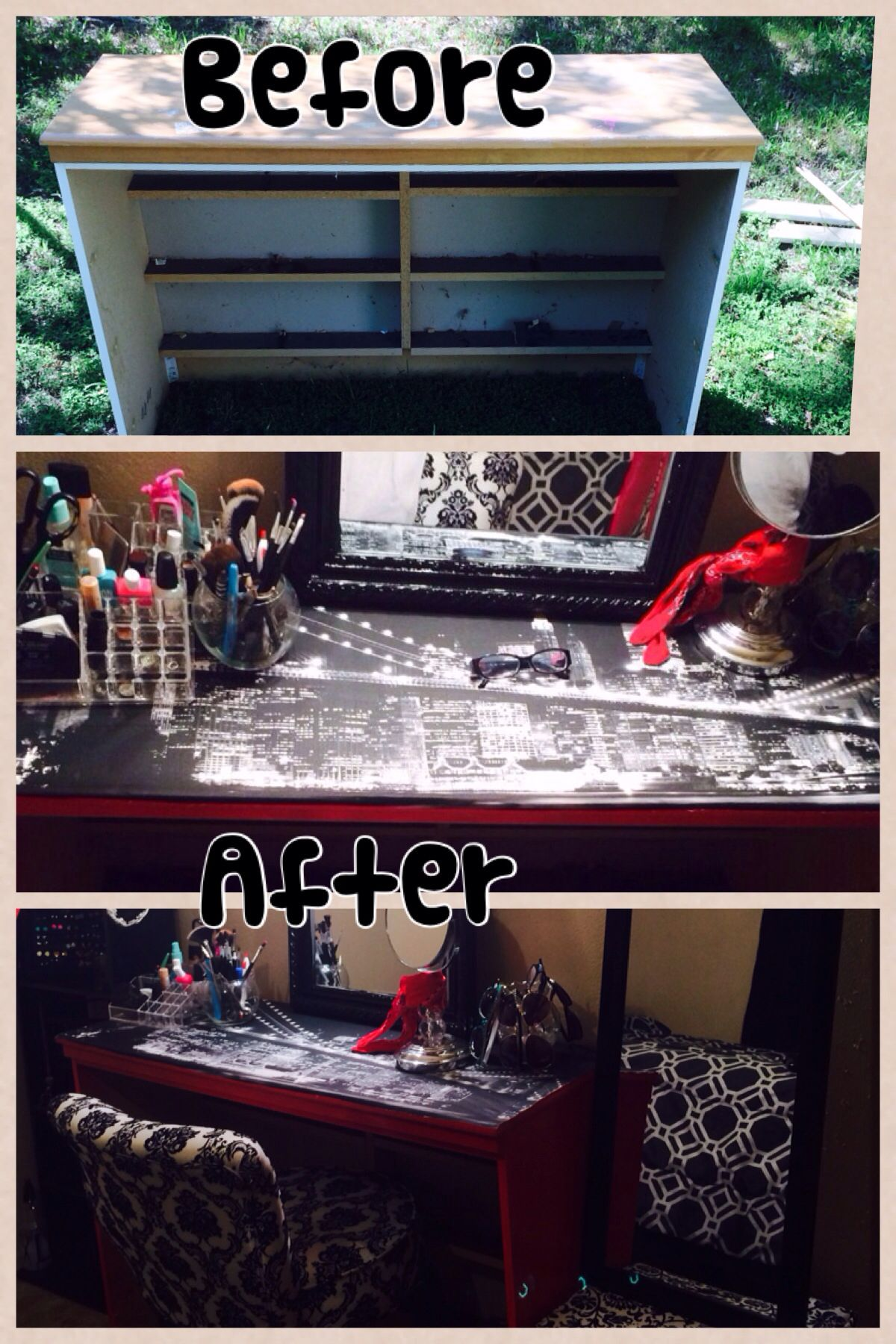 Turn your old dresser into a make up vanity!! I'm doing