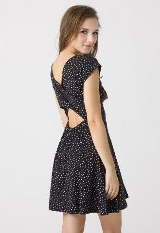 Starry Twisted Back Dress