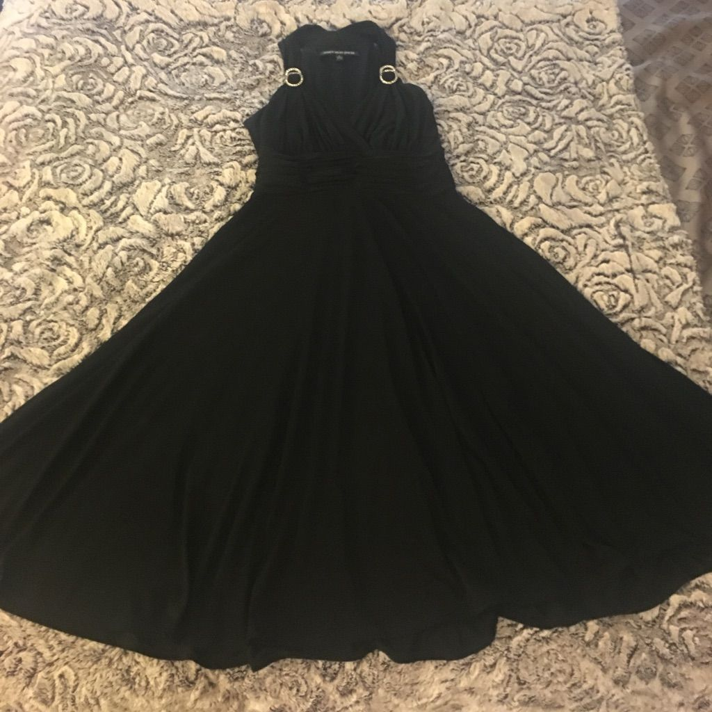 Gorgeous black halter dress with rhinestones products