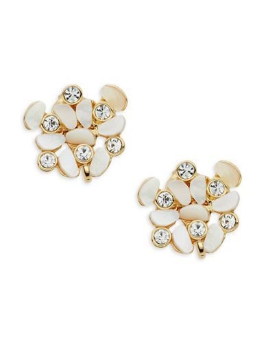 Kate Spade New York Disco Pansy Cluster Clip Earrings Women S White