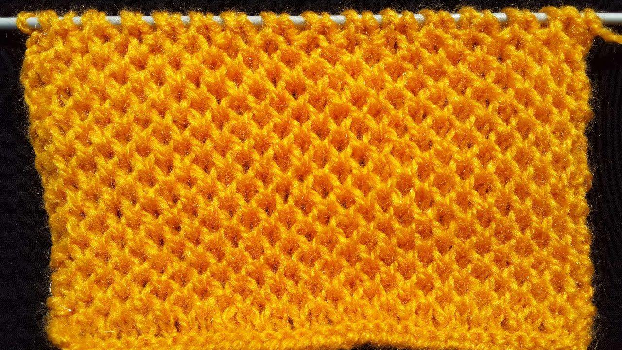 Honeycomb Stitch - Knitting Pattern | HINDI | Proyectos a intentar ...