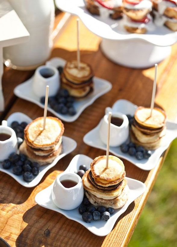 Breakfast bar try this, Pancake stack, side of blueberries and - deko f r k chenw nde