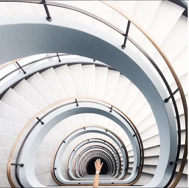 spiral staircase | Daniel Wellington watches | 15% off through this link | minimalist watch