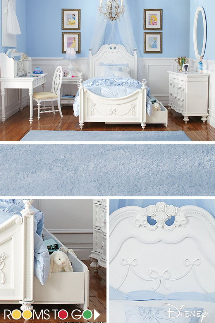 Disney Princess White 5 Pc Twin Poster Bedroom in 2019 ...