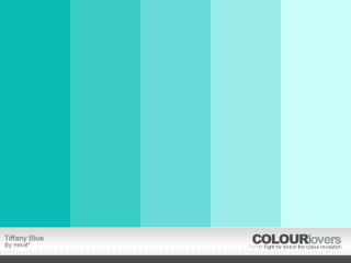 There Are So Many Variations Of The Legendary Tiffany Blue I Love Middle One And Color To Right It