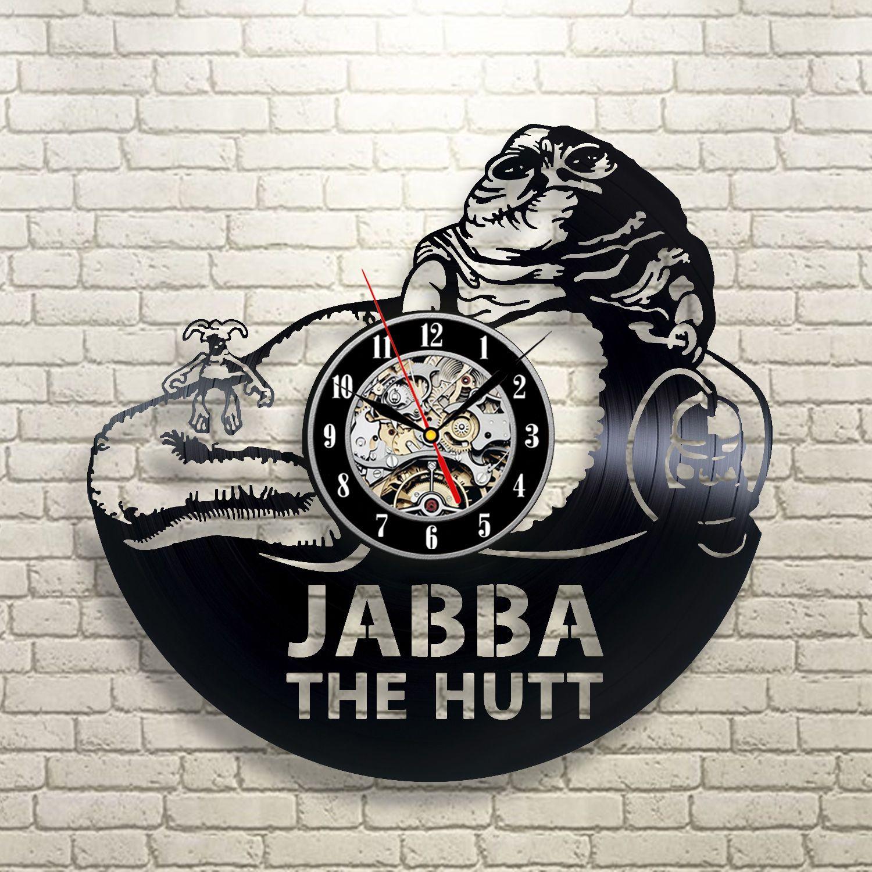 Jabba the hutt star wars vintage dead imperial art decor wall clock