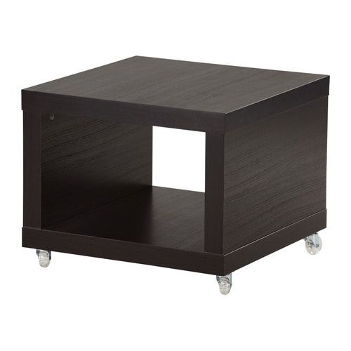2 of these as coffee table for kids stuff lack side table on casters blackbrown ikea - End Tables Ikea