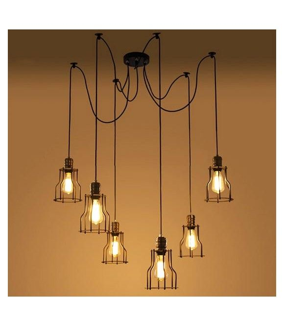 Lampe suspension d corative vintage avec suspension - Lampe decorative salon ...
