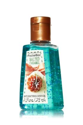 Salted Caramel - PocketBac Sanitizing Hand Gel - Bath & Body Works - This miniature must-have contains natural ingredients and powerful germ killers that keep hands fresh and clean on-the-go with a sweet candy scent!