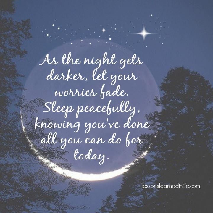 Night Time Quotes: Sleep Peacefully..