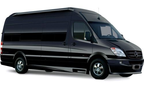 3b48bae7c73f6a Black on Black Mercedes Luxury Sprinter Limo