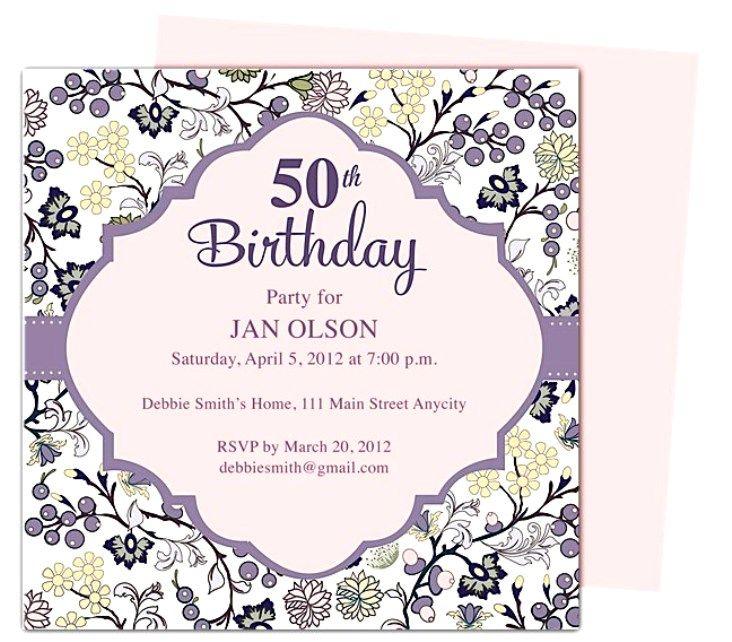 Create 50th Birthday Invitations Easy