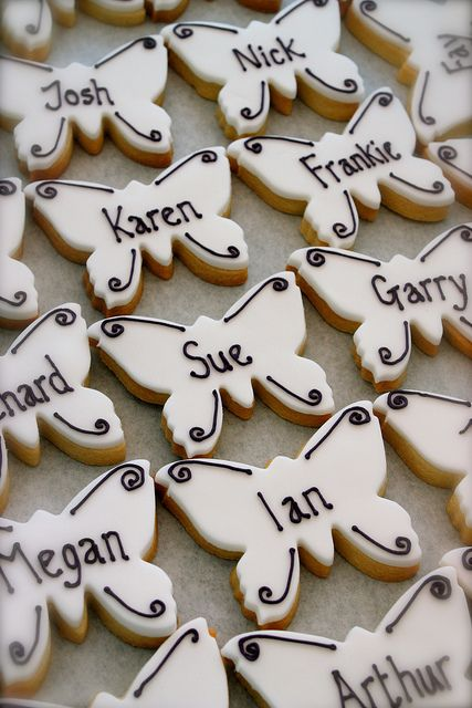 Butterfly Place Card Cookies