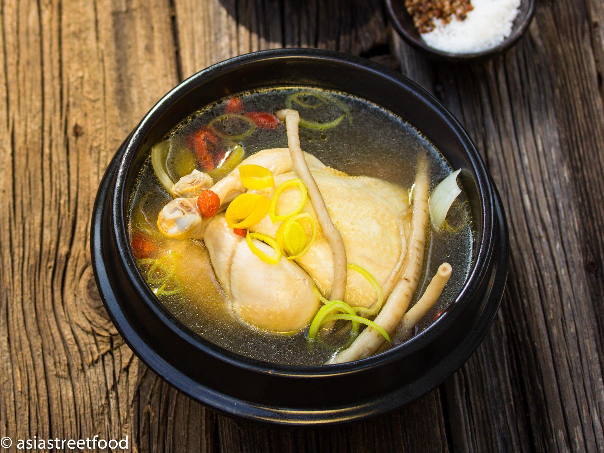 Koreanische Hühnersuppe mit Ginseng   Rezept   einfache Gerichte ...
