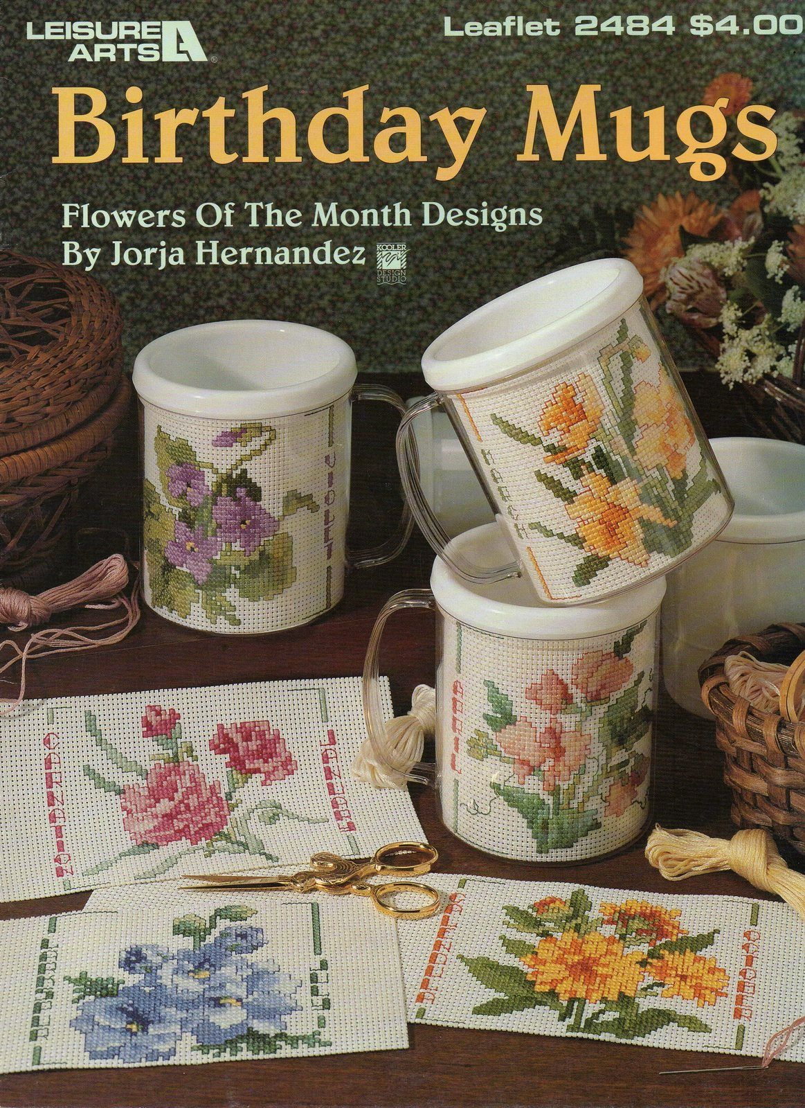 Flowers of the month cross stitch birthday mugs leisure arts 2484 flowers of the month cross stitch birthday mugs leisure arts 2484 izmirmasajfo